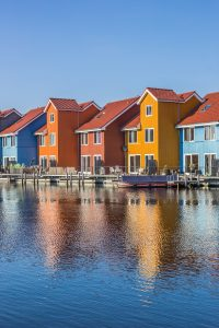 Le case colorate di Reitdiephaven, a Groninga