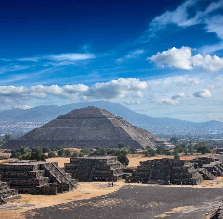 Panorama del sito archeologico di Teotihuacan