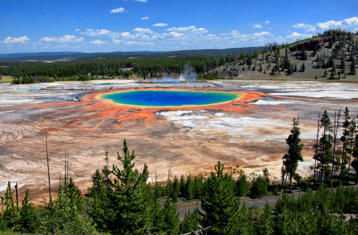Suggestiva vista dello Yellowstone Park